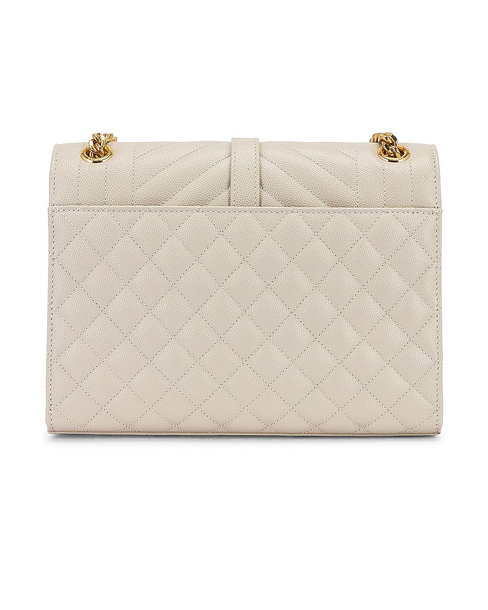 Image 3 of Saint Laurent Medium Monogramme Satchel Bag in Crema Soft