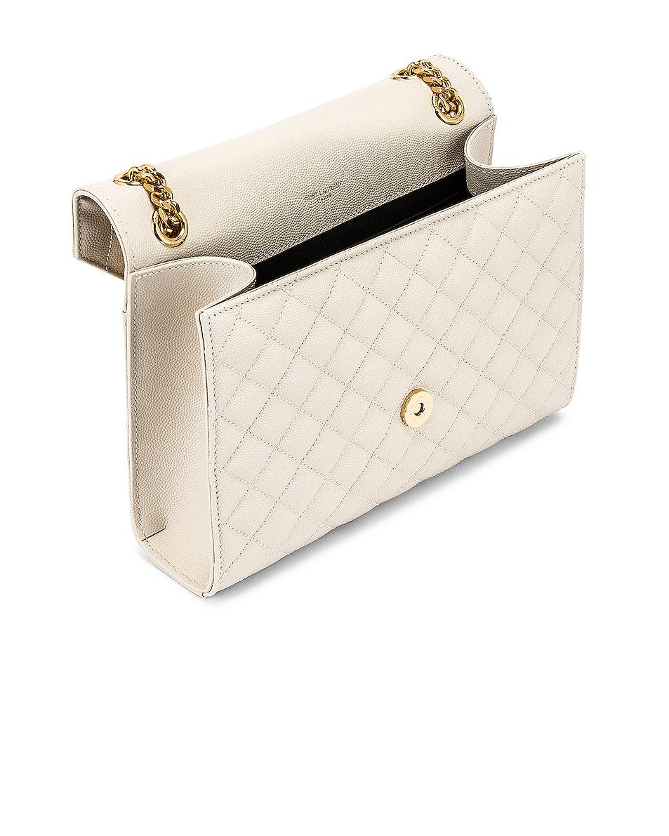 Image 5 of Saint Laurent Medium Monogramme Satchel Bag in Crema Soft