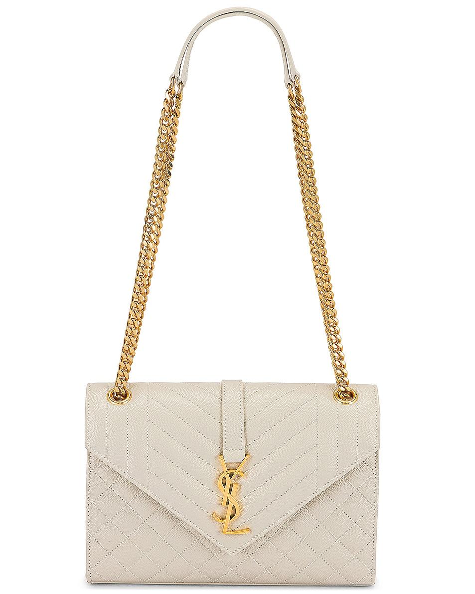Image 6 of Saint Laurent Medium Monogramme Satchel Bag in Crema Soft