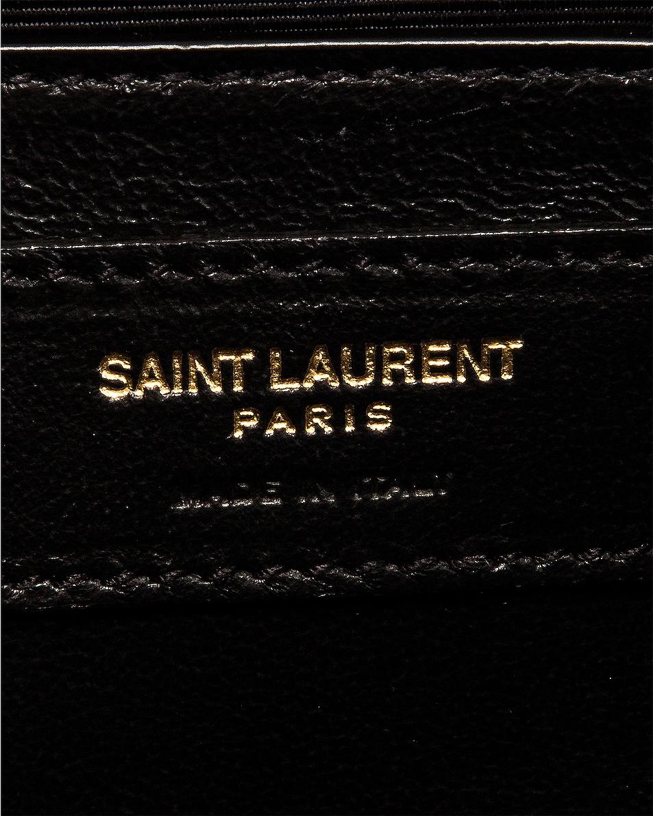 Image 7 of Saint Laurent Medium Monogramme Satchel Bag in Crema Soft