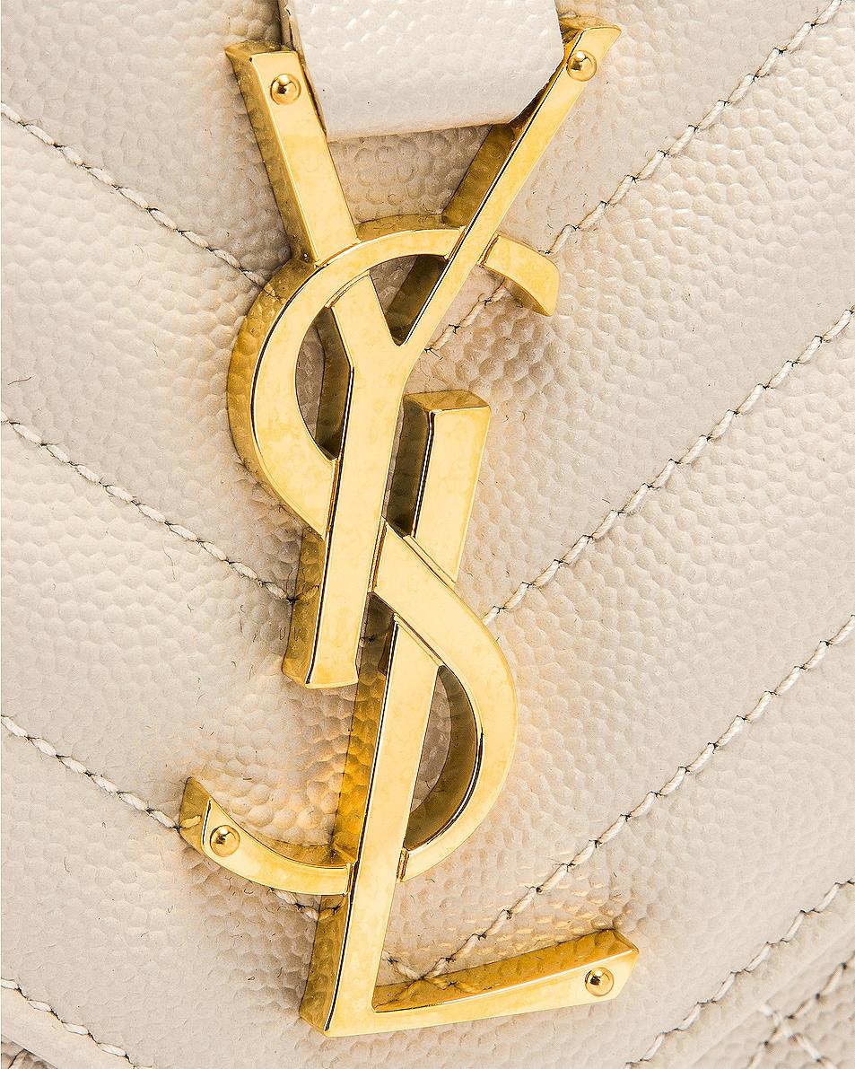 Image 8 of Saint Laurent Medium Monogramme Satchel Bag in Crema Soft