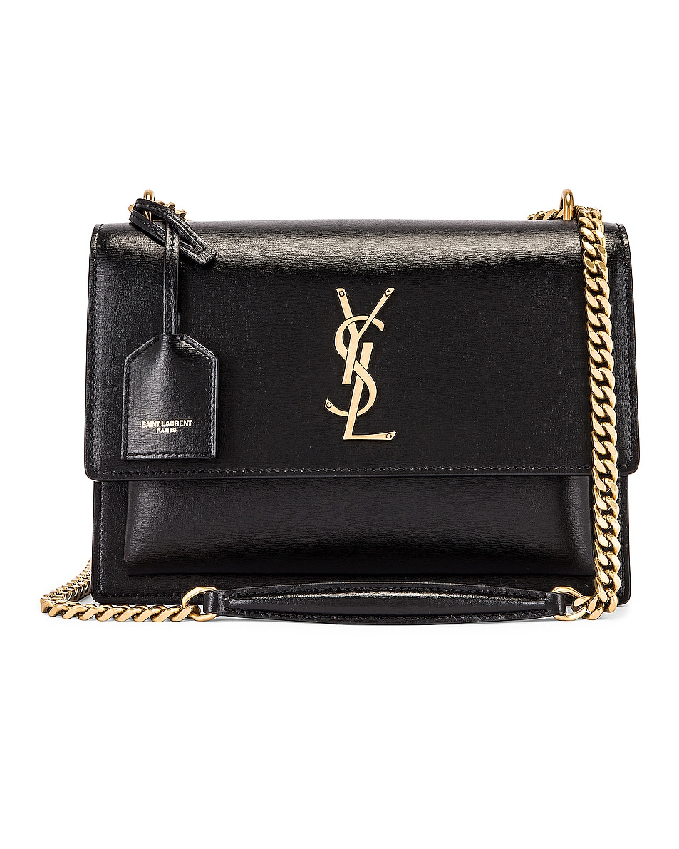 Image 1 of Saint Laurent Medium Sunset Monogramme Bag in Black