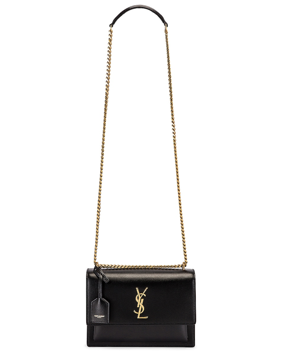 Image 6 of Saint Laurent Medium Sunset Monogramme Bag in Black