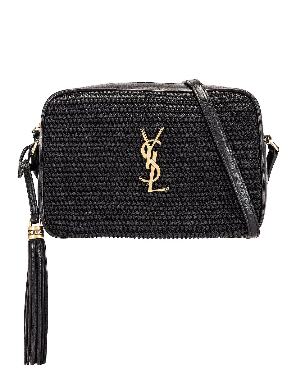 Image 1 of Saint Laurent Medium Lou Monogramme Bag in Black & Black