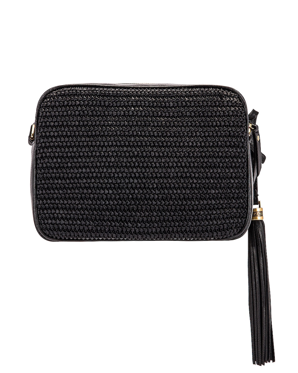 Image 3 of Saint Laurent Medium Lou Monogramme Bag in Black & Black