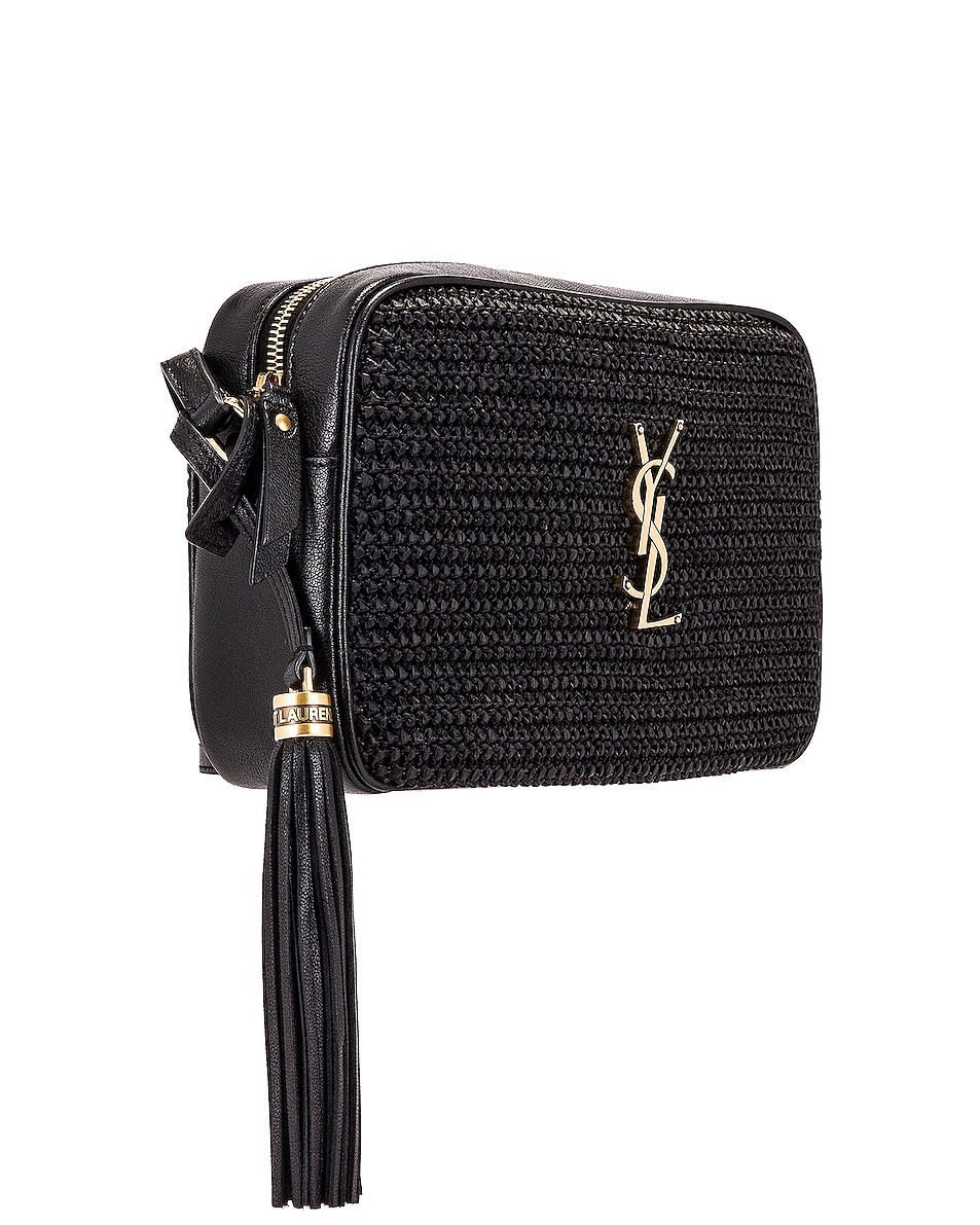 Image 4 of Saint Laurent Medium Lou Monogramme Bag in Black & Black