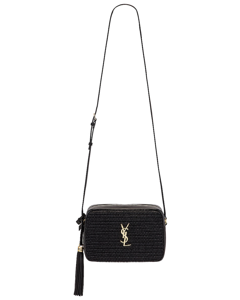 Image 6 of Saint Laurent Medium Lou Monogramme Bag in Black & Black