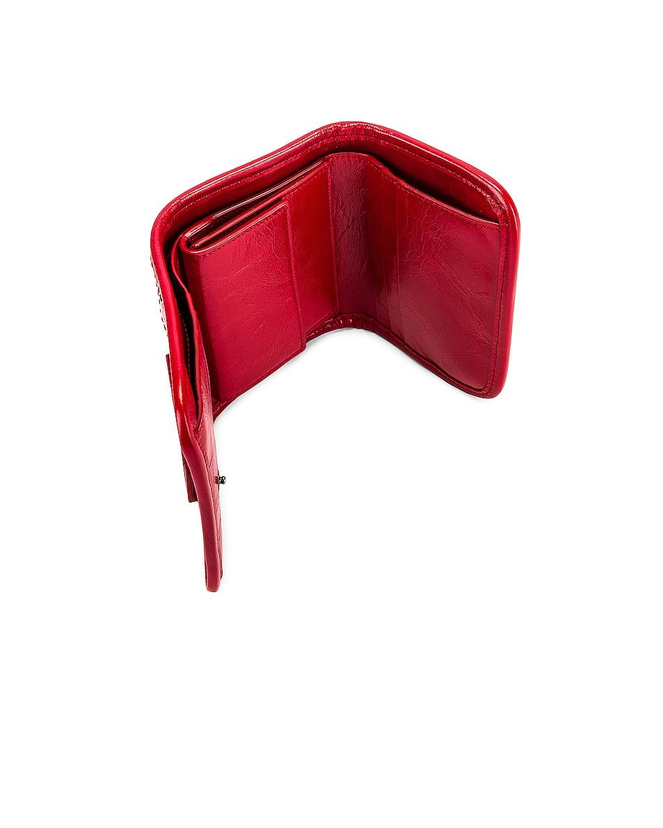 Image 4 of Saint Laurent Credit Card Wallet in Rouge Eros