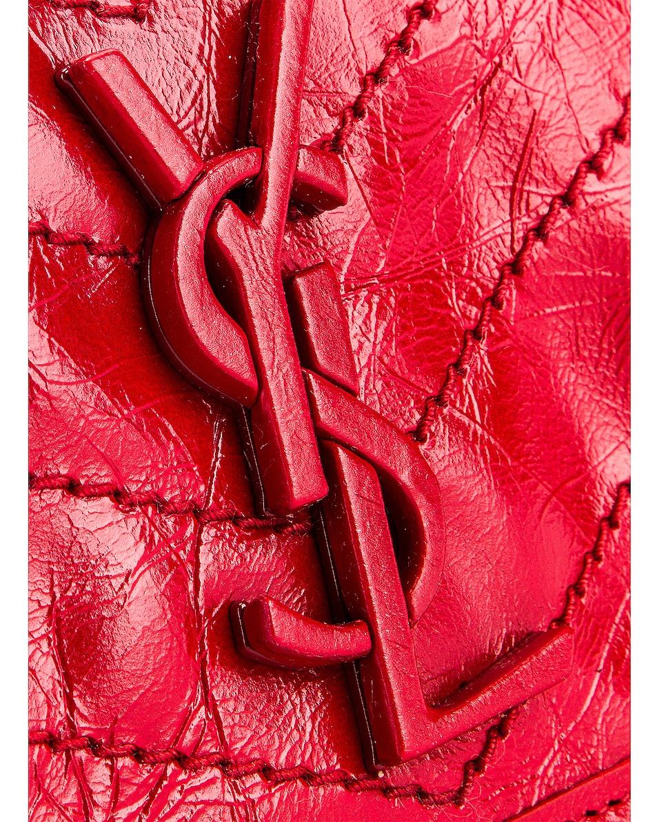 Image 6 of Saint Laurent Credit Card Wallet in Rouge Eros