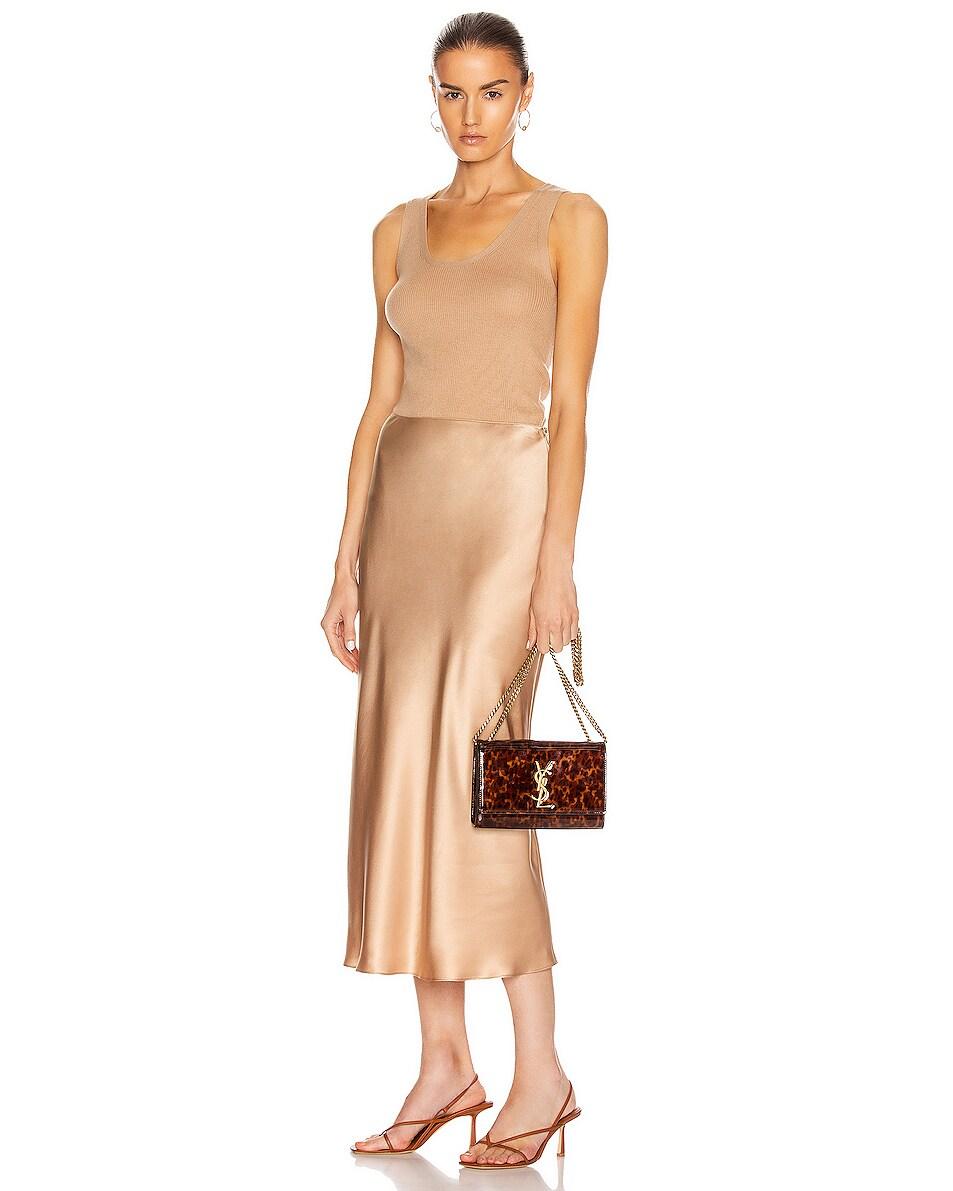 Image 2 of Saint Laurent Small Kate Bag in Tortoise Brown