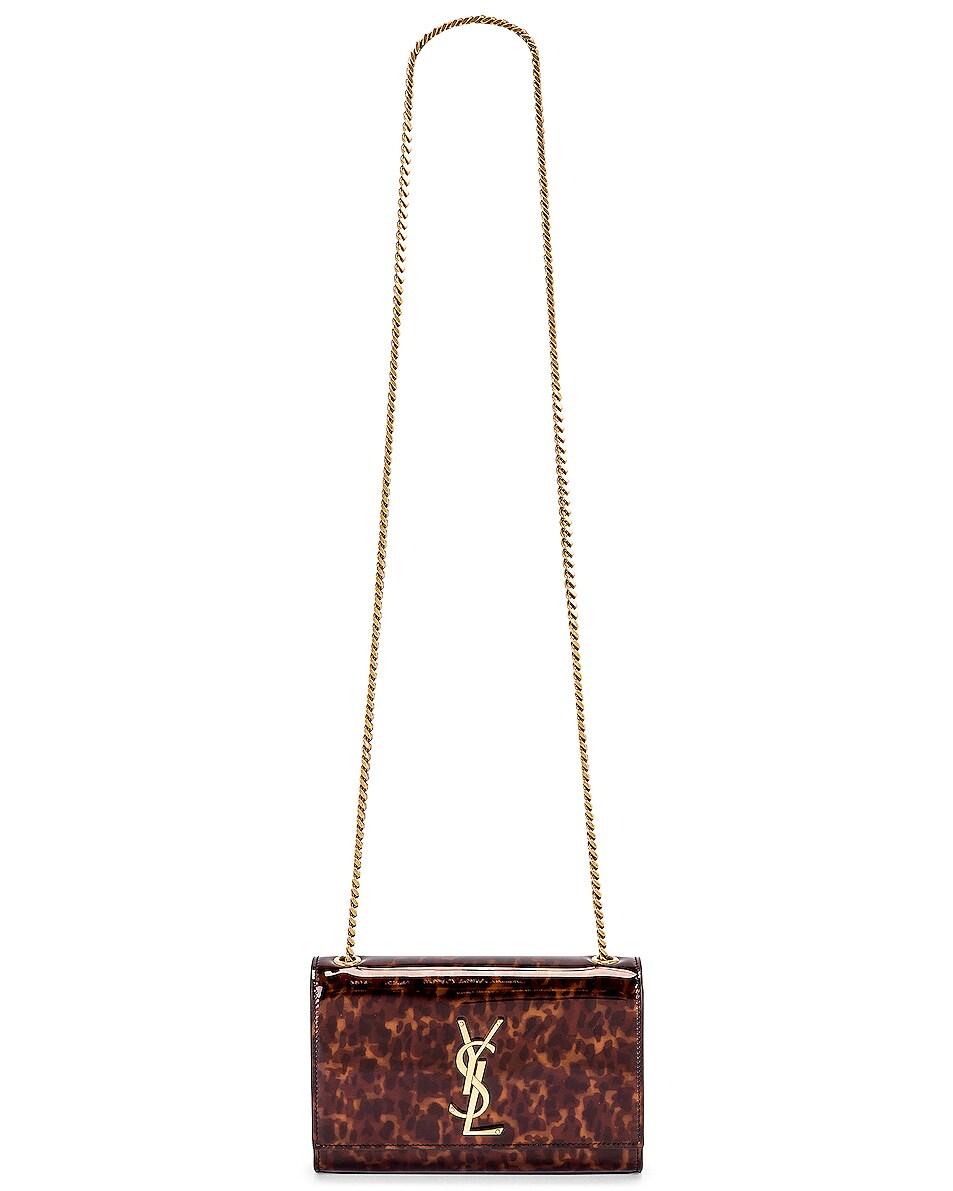 Image 6 of Saint Laurent Small Kate Bag in Tortoise Brown