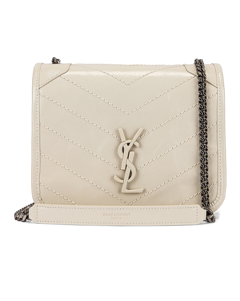 Image 1 of Saint Laurent Niki Chain Wallet Bag in Crema Soft