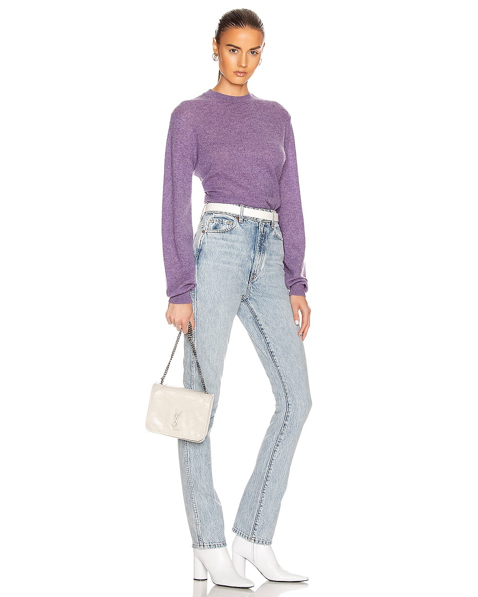 Image 2 of Saint Laurent Niki Chain Wallet Bag in Crema Soft