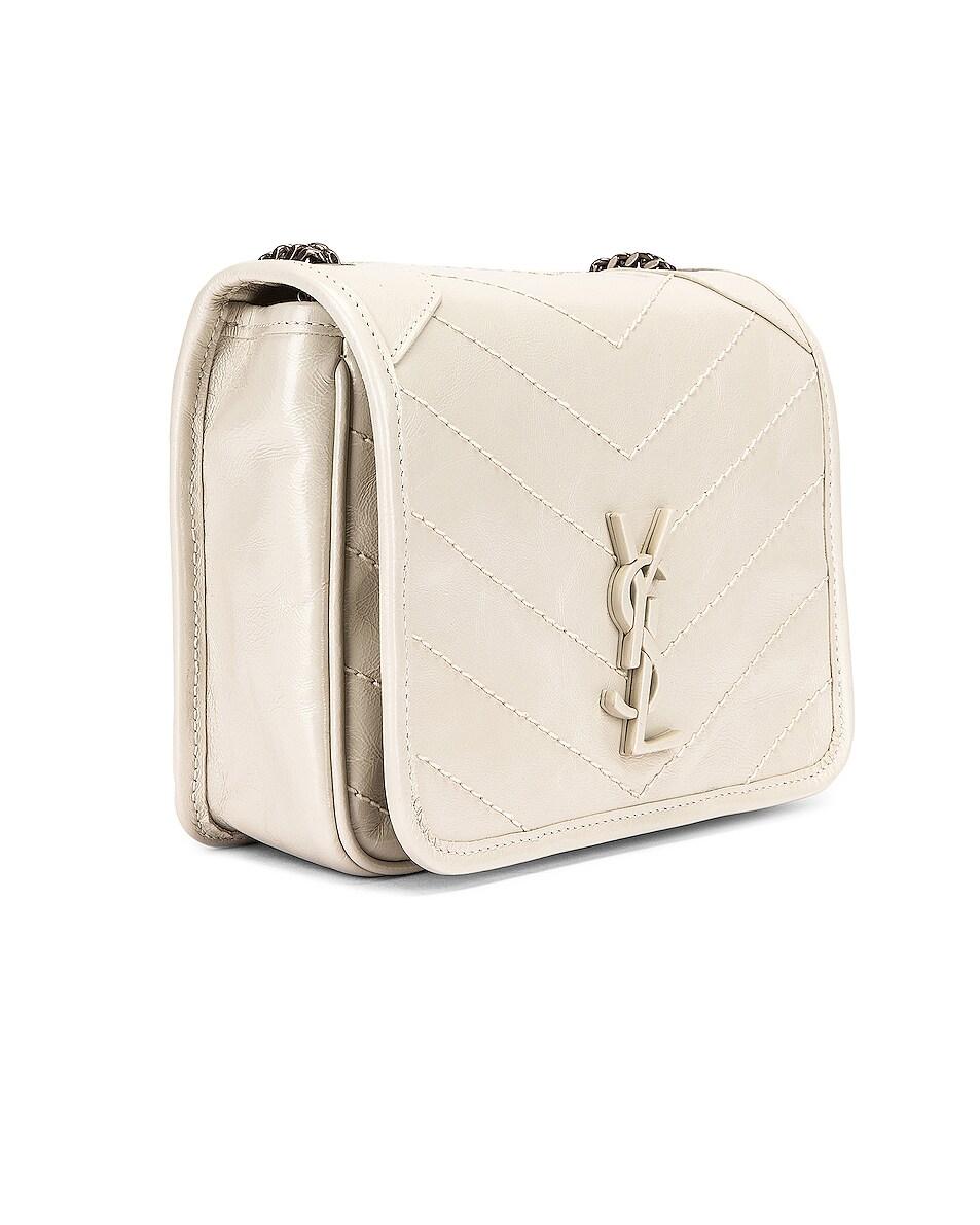 Image 4 of Saint Laurent Niki Chain Wallet Bag in Crema Soft