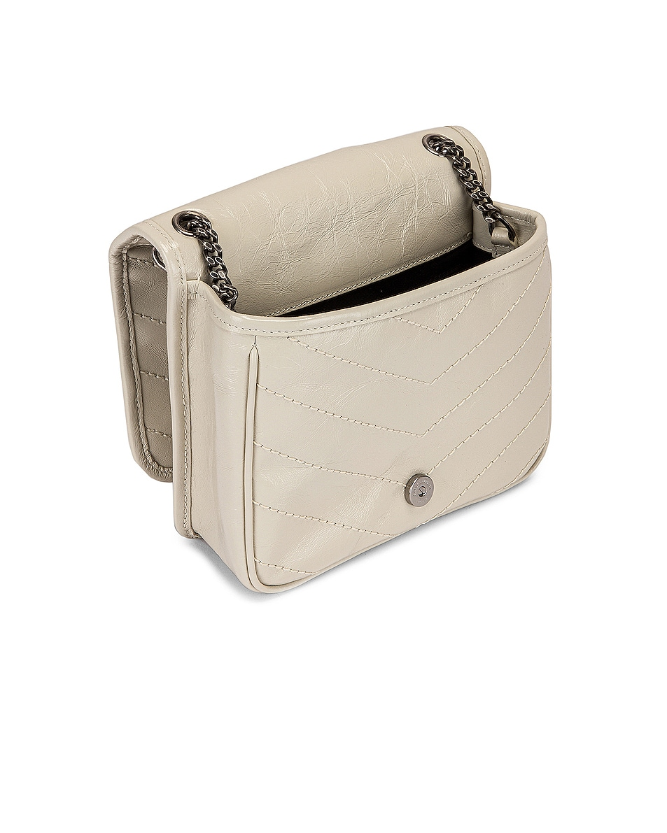 Image 5 of Saint Laurent Niki Chain Wallet Bag in Crema Soft