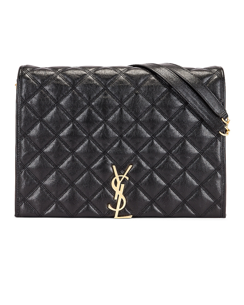 Image 1 of Saint Laurent Large Becky Chain Bag in Black
