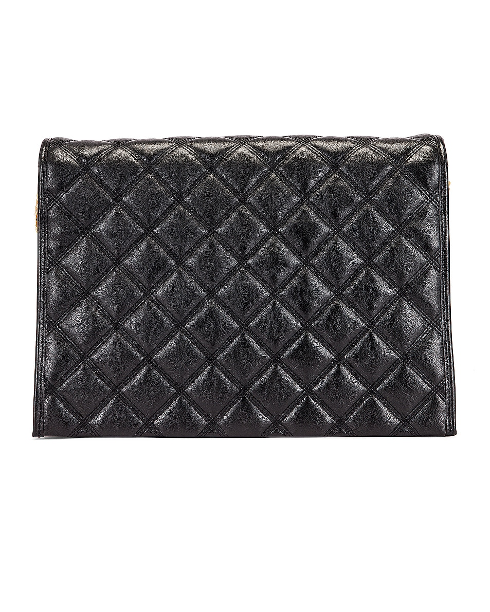 Image 3 of Saint Laurent Large Becky Chain Bag in Black