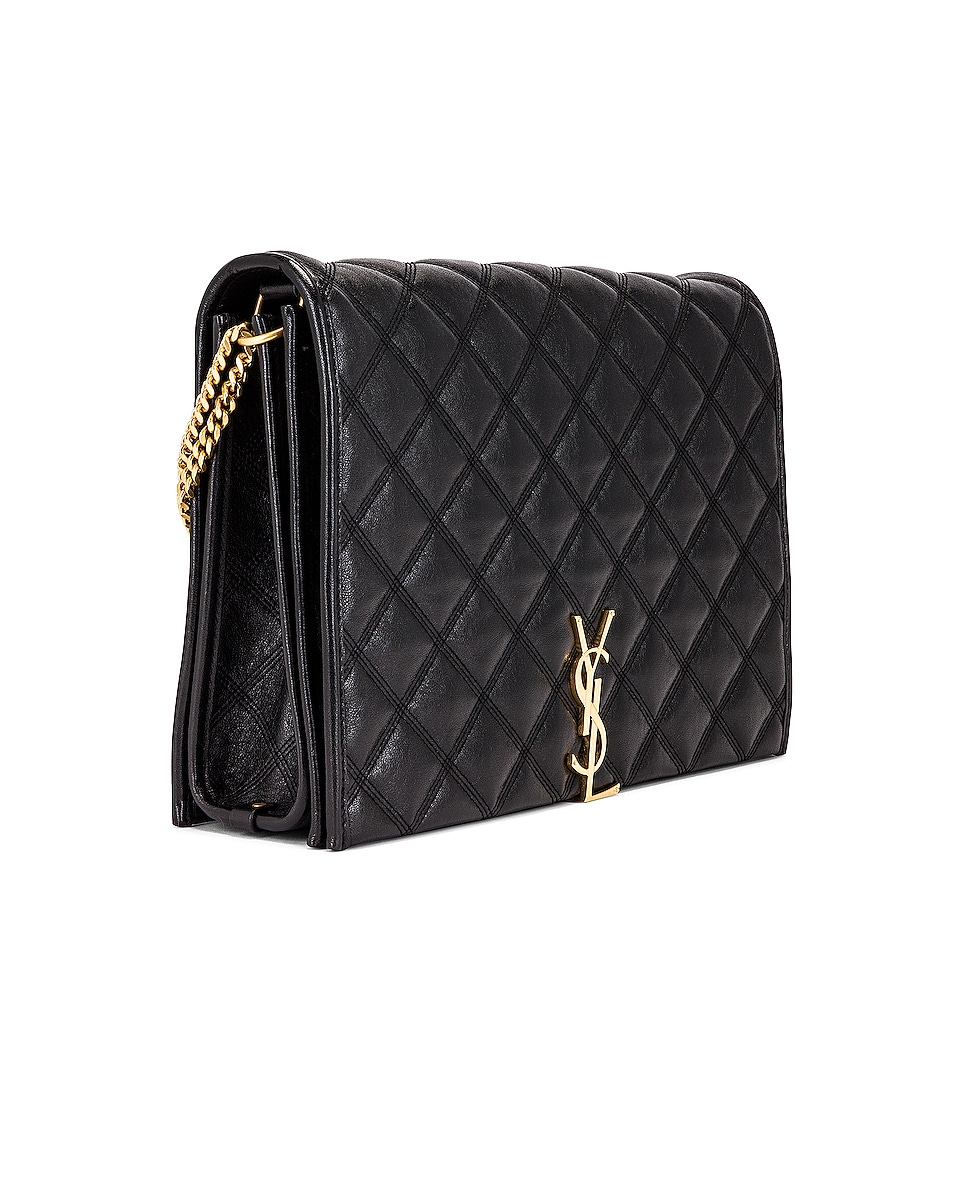 Image 4 of Saint Laurent Large Becky Chain Bag in Black