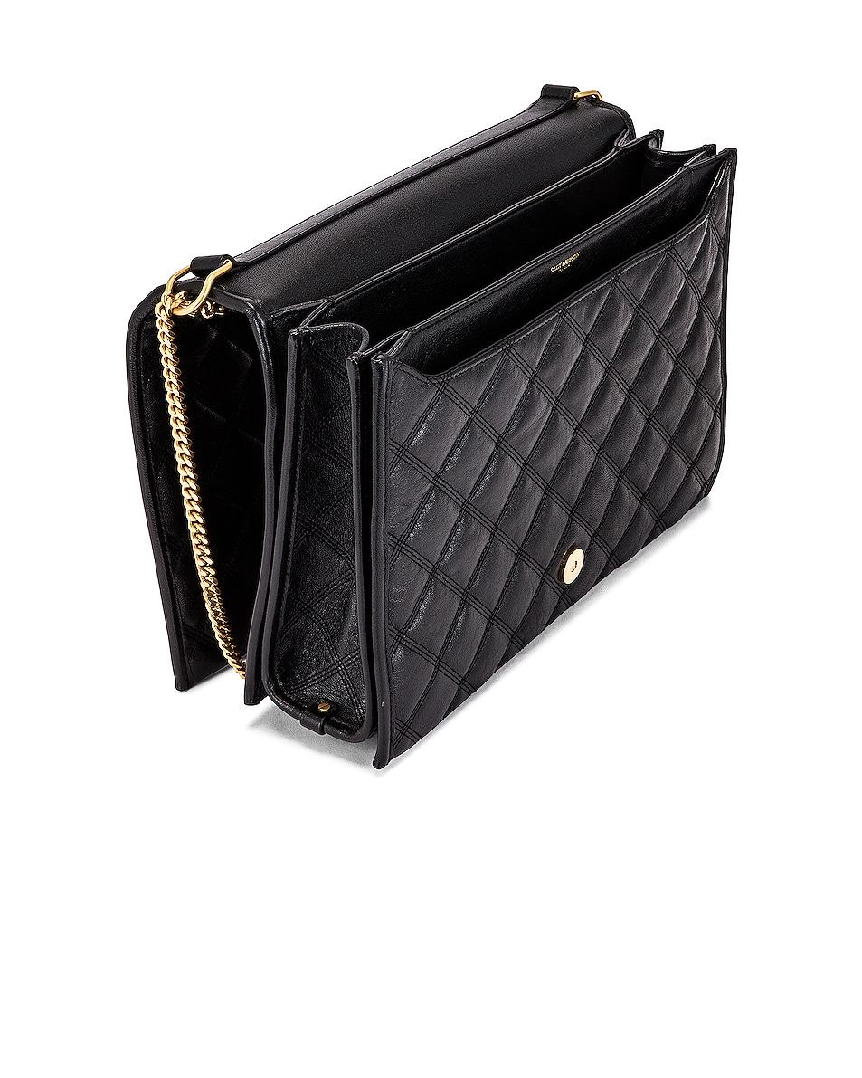 Image 5 of Saint Laurent Large Becky Chain Bag in Black
