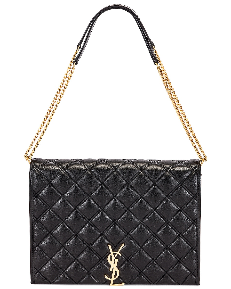 Image 6 of Saint Laurent Large Becky Chain Bag in Black