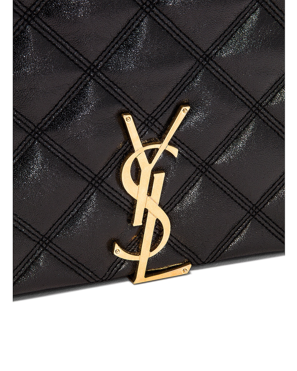 Image 8 of Saint Laurent Large Becky Chain Bag in Black