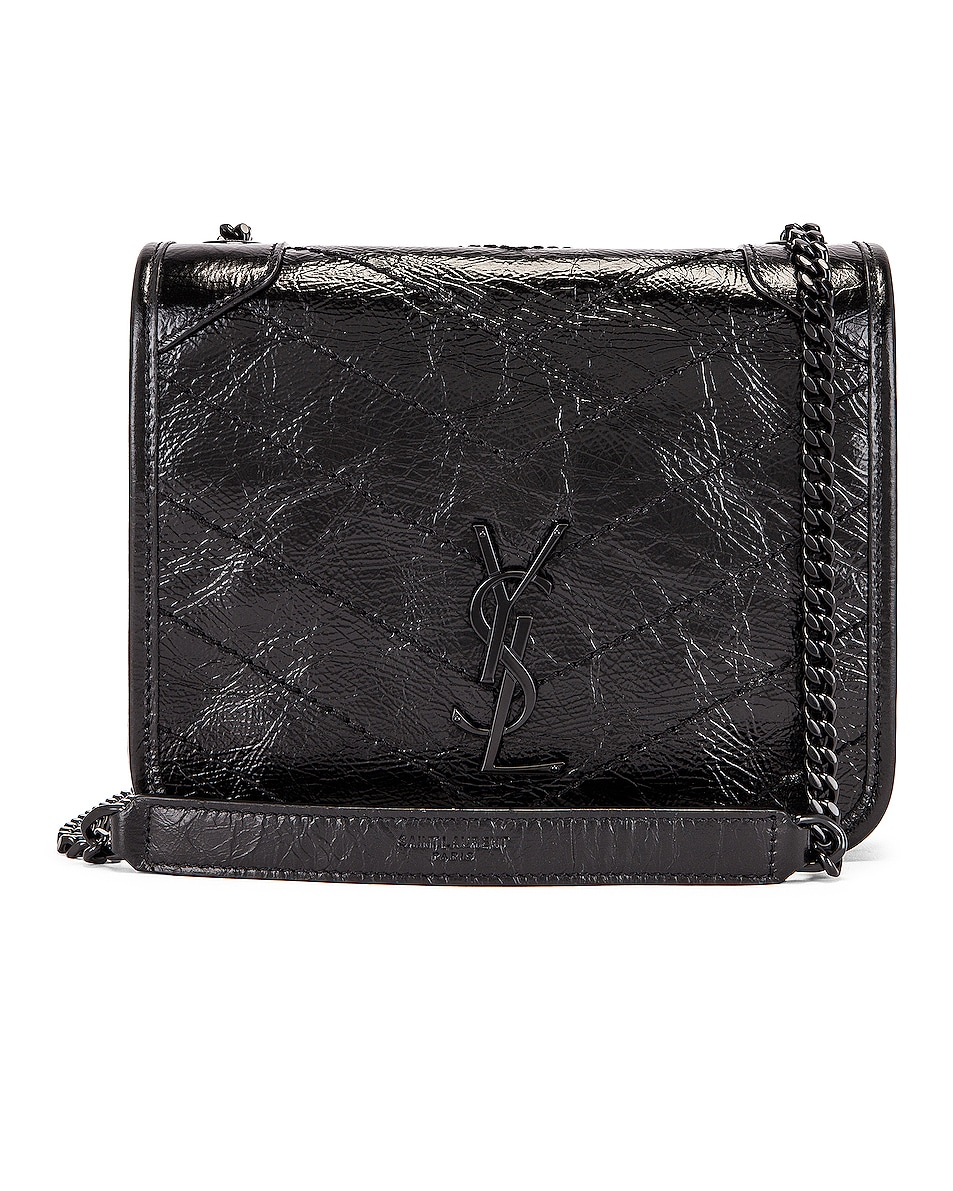 Image 1 of Saint Laurent Chain Wallet Bag in Black