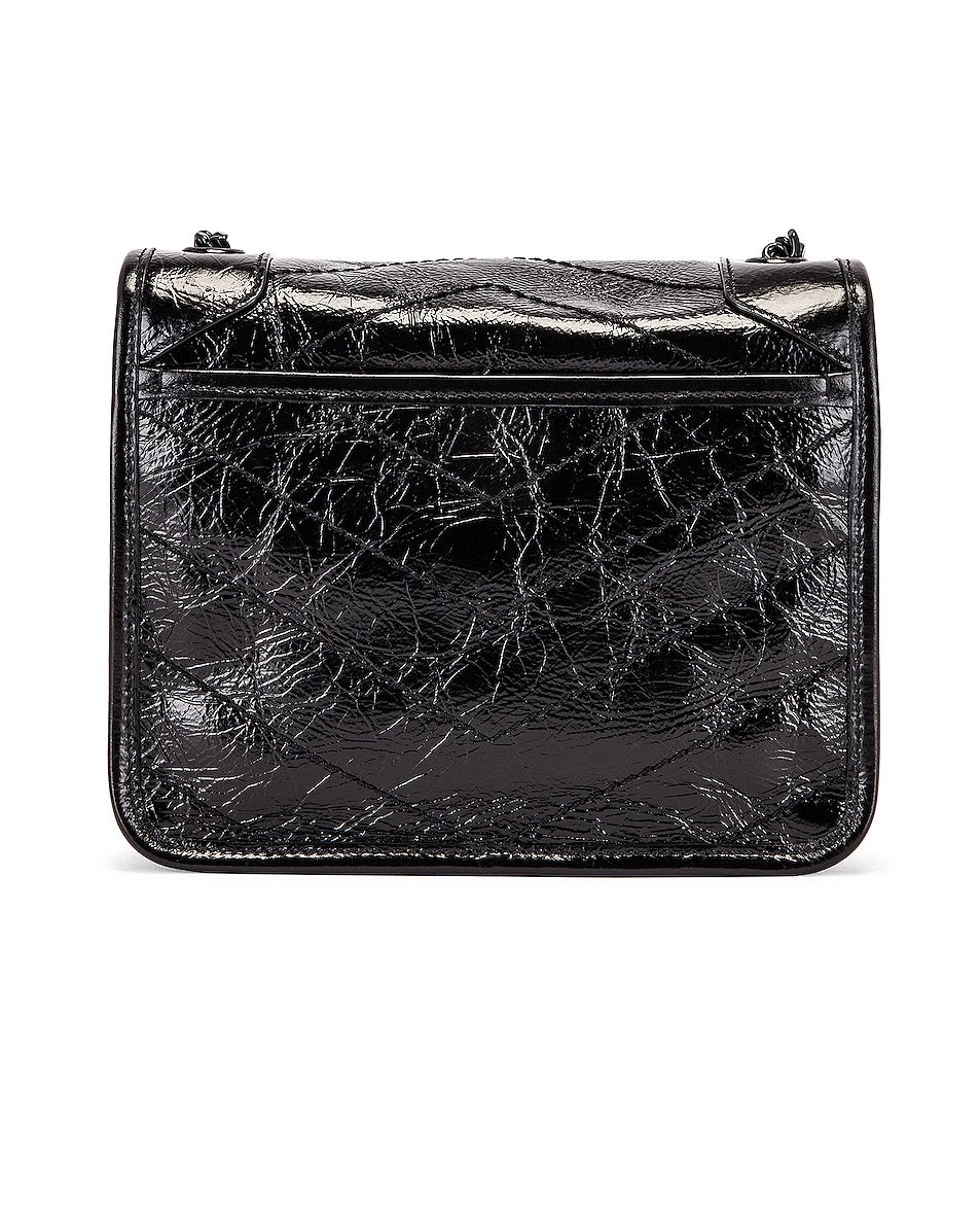 Image 3 of Saint Laurent Chain Wallet Bag in Black