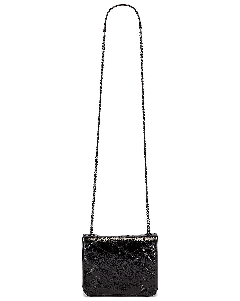 Image 6 of Saint Laurent Chain Wallet Bag in Black