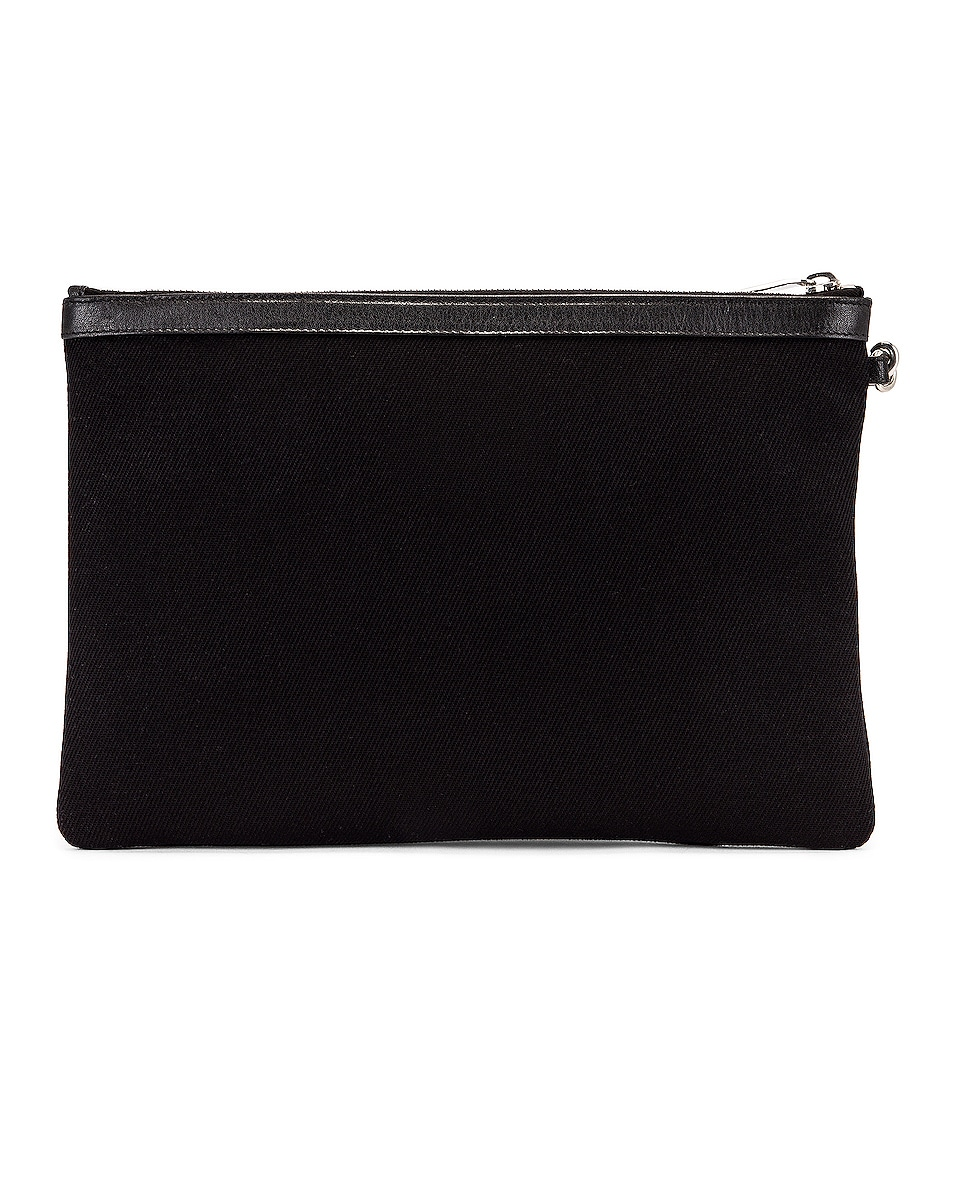 Image 3 of Saint Laurent Monogramme Pouch in Black & White