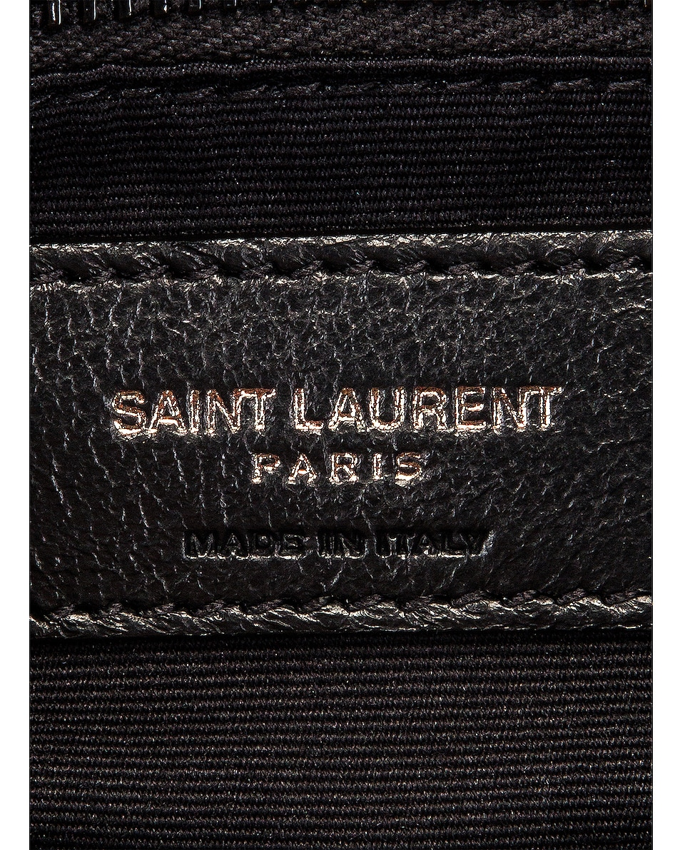 Image 6 of Saint Laurent Monogramme Pouch in Black & White