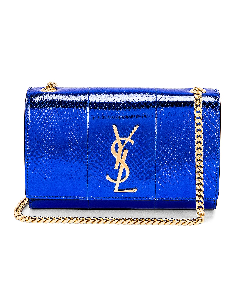 Image 1 of Saint Laurent Small Kate Bag in Shiny Blue