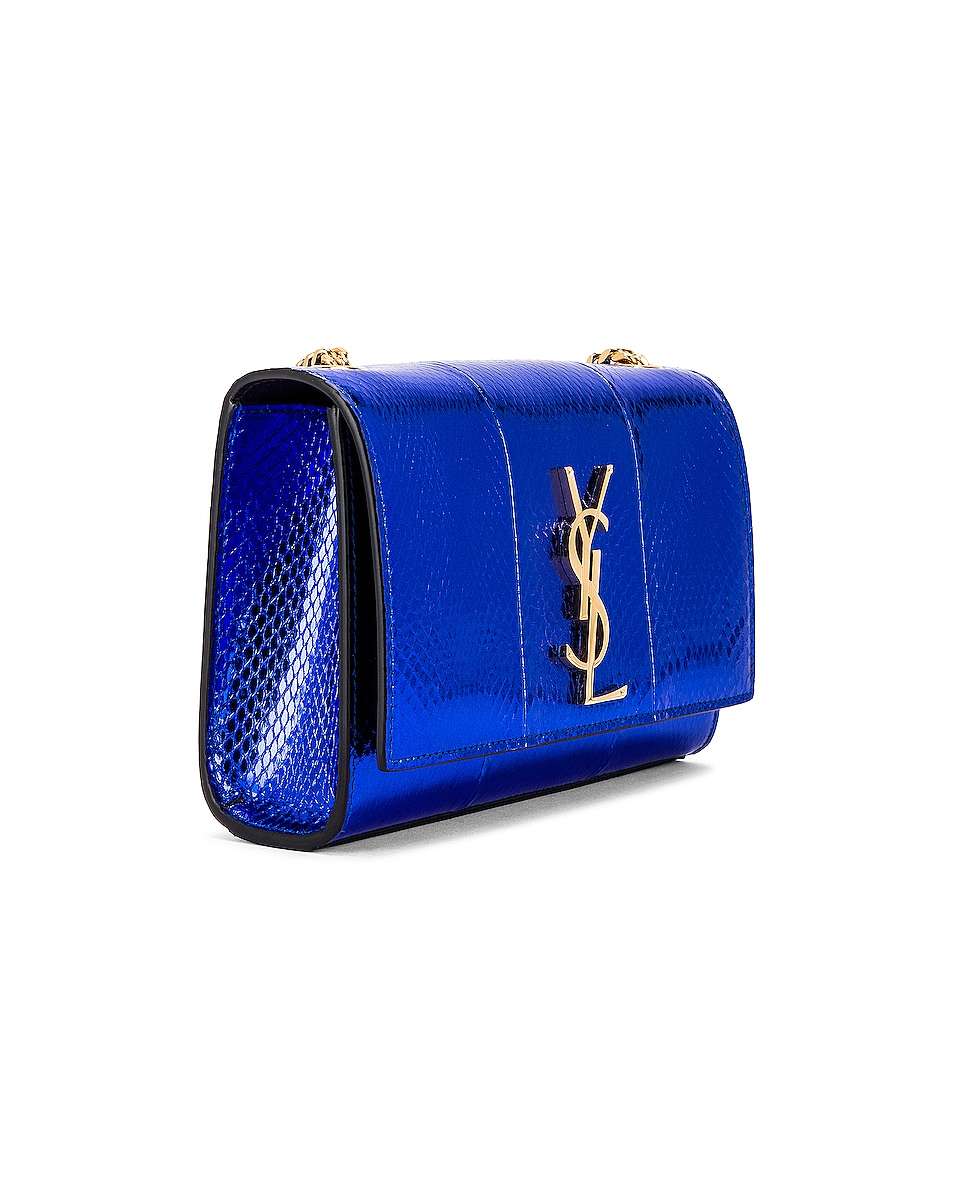 Image 4 of Saint Laurent Small Kate Bag in Shiny Blue