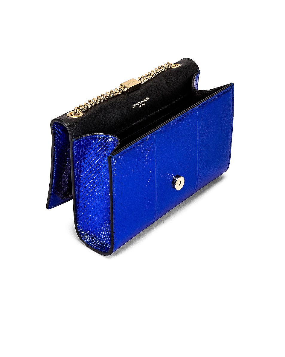 Image 5 of Saint Laurent Small Kate Bag in Shiny Blue
