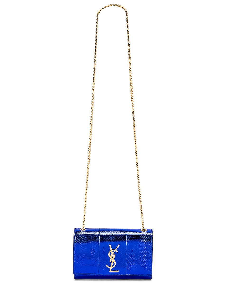 Image 6 of Saint Laurent Small Kate Bag in Shiny Blue