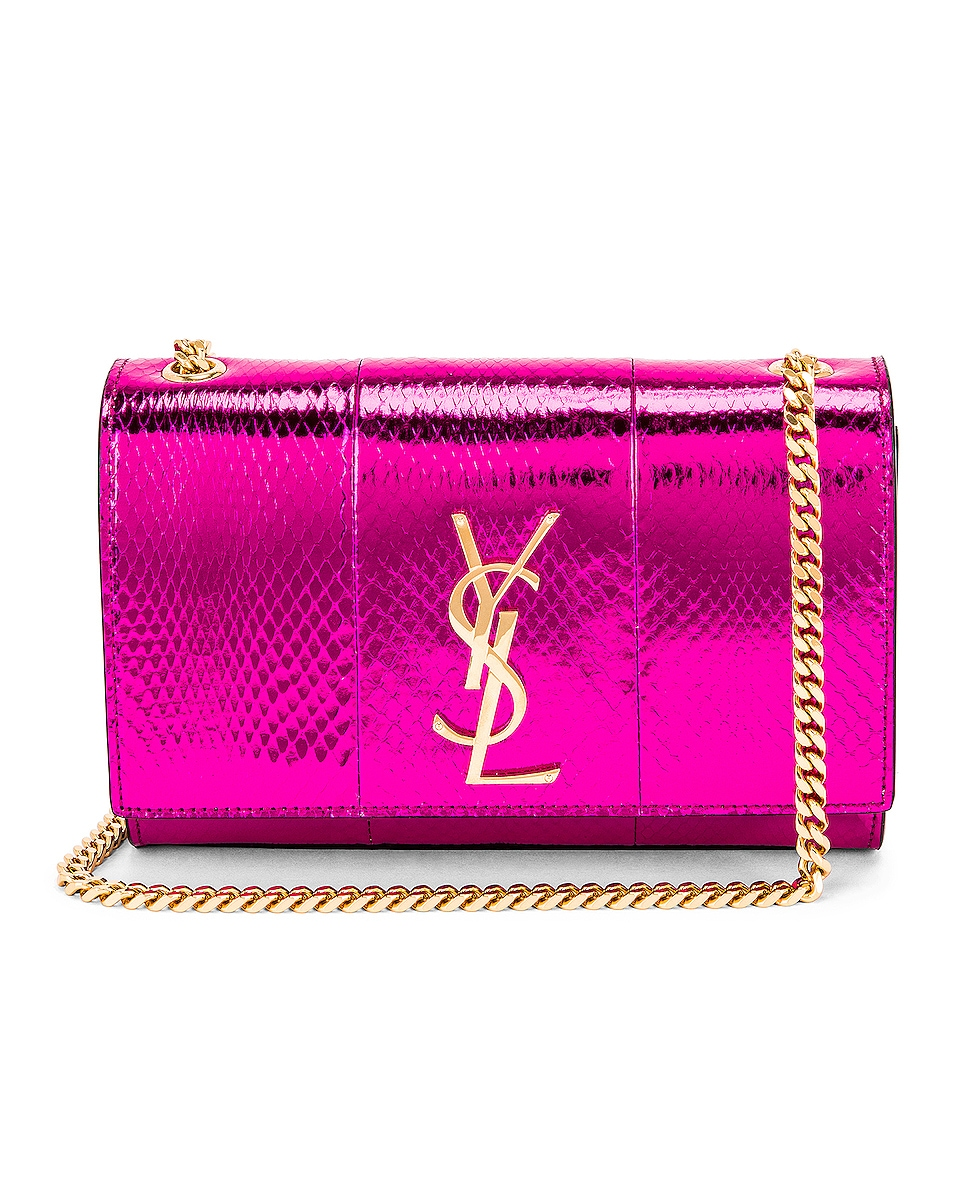 Image 1 of Saint Laurent Small Kate Bag in Shiny Fuchsia