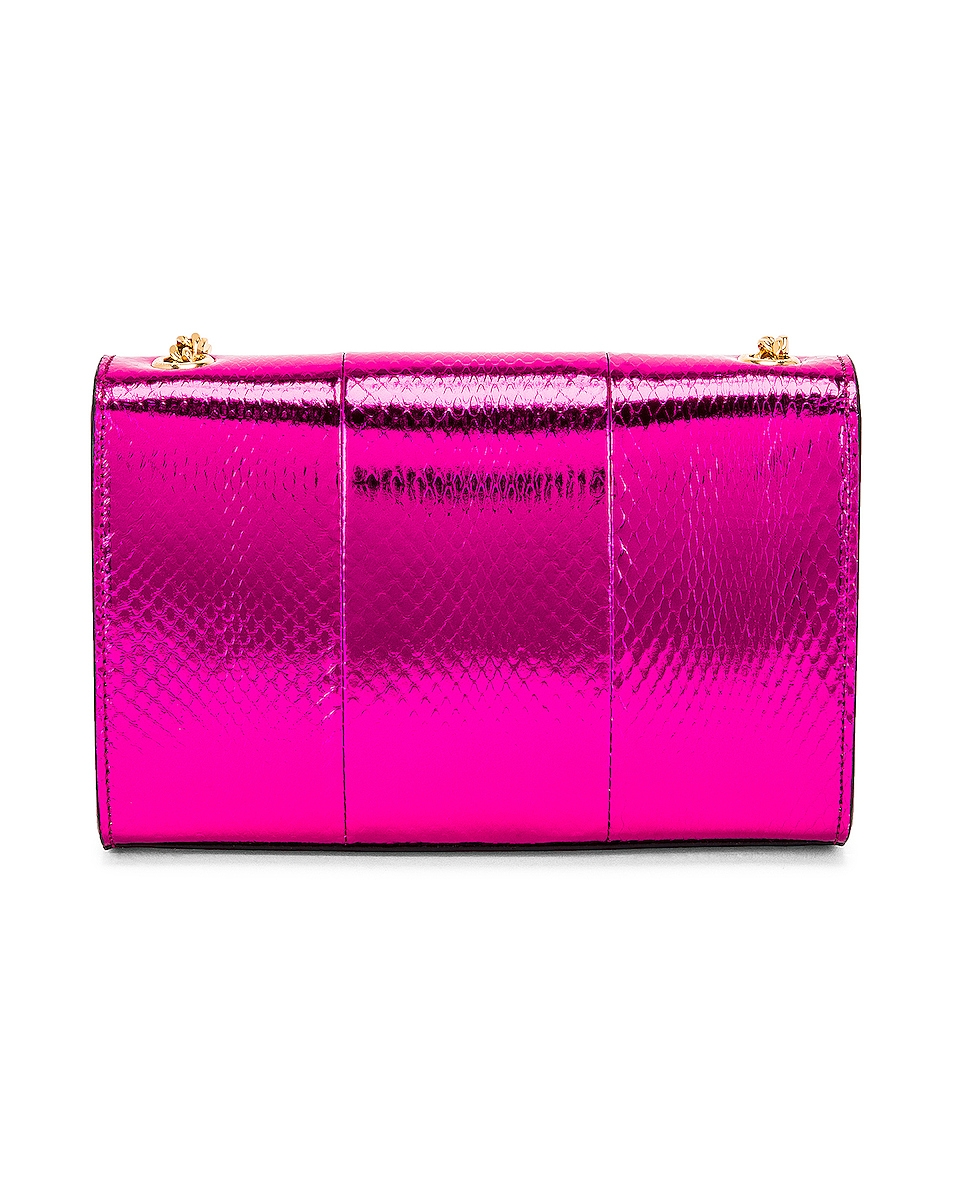 Image 3 of Saint Laurent Small Kate Bag in Shiny Fuchsia