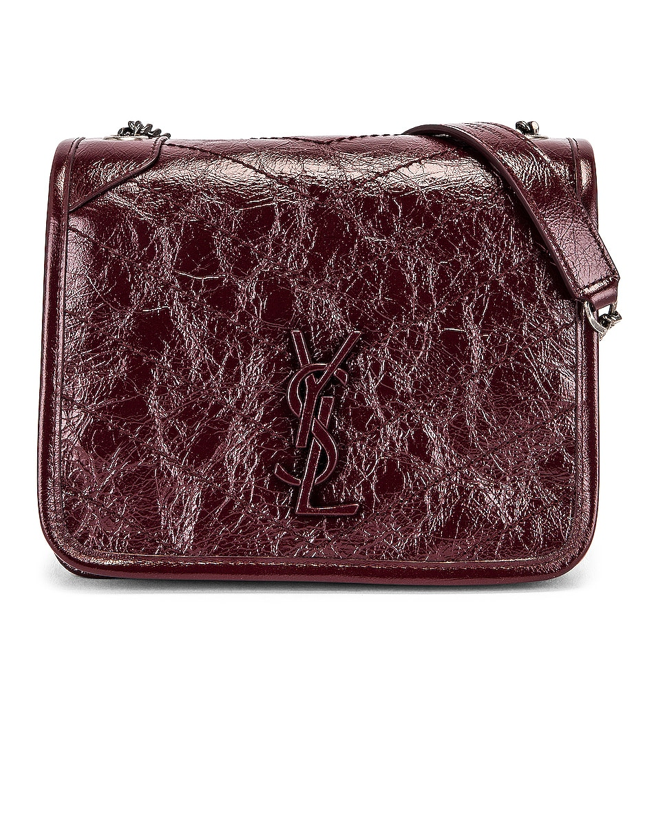 Image 1 of Saint Laurent Niki Chain Wallet Bag in Red Velvet