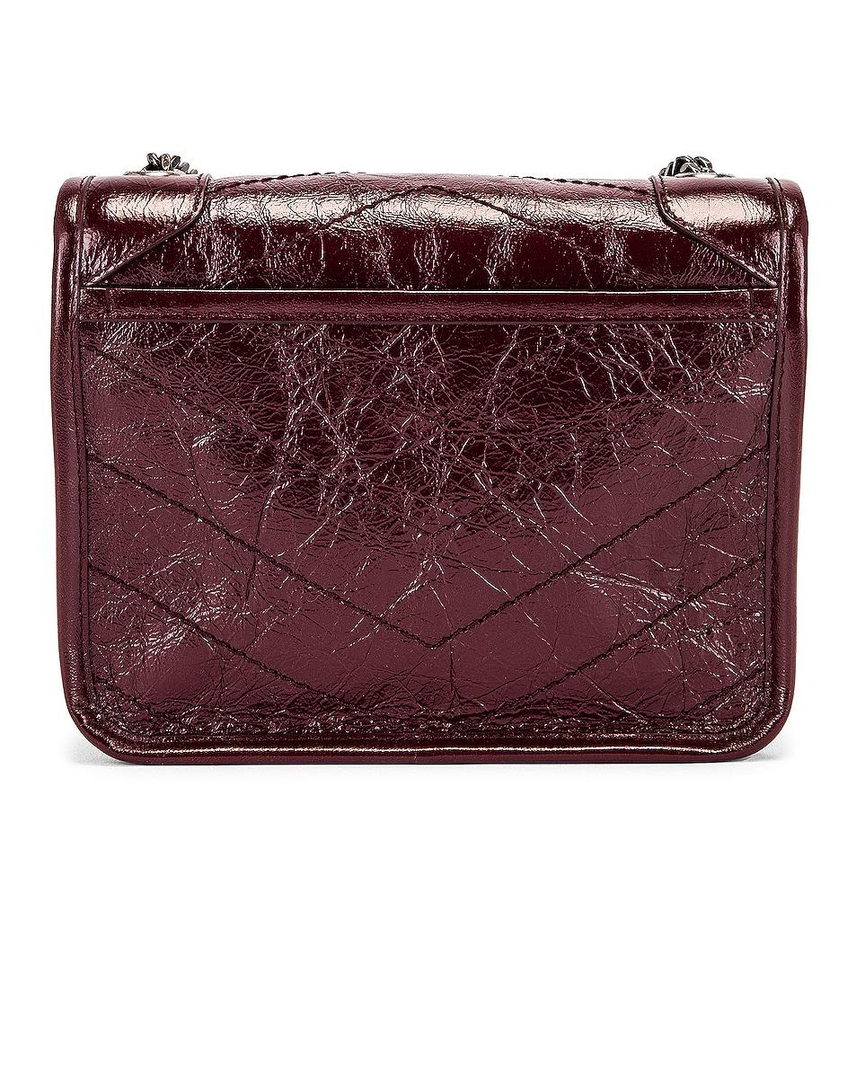 Image 3 of Saint Laurent Niki Chain Wallet Bag in Red Velvet