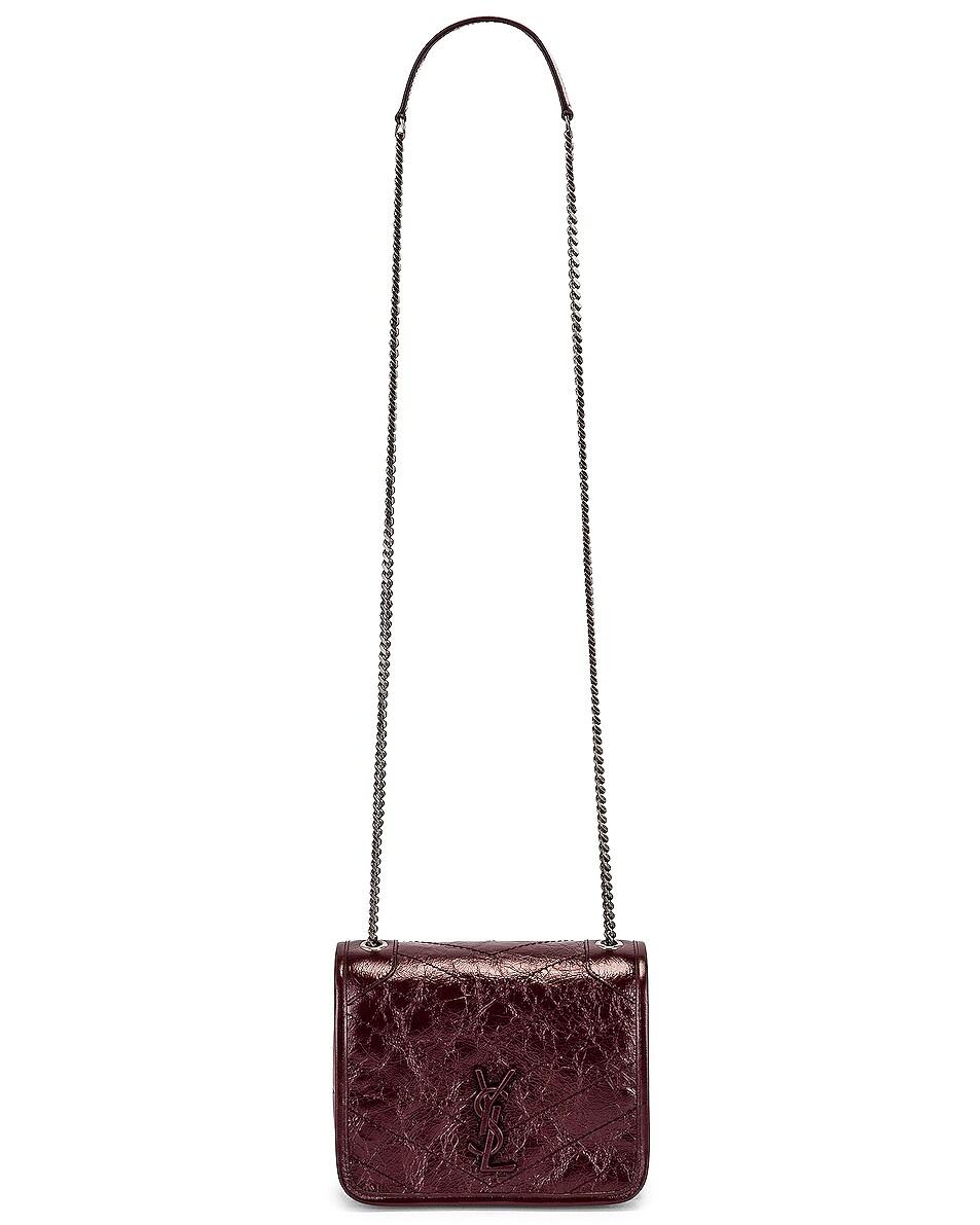 Image 6 of Saint Laurent Niki Chain Wallet Bag in Red Velvet