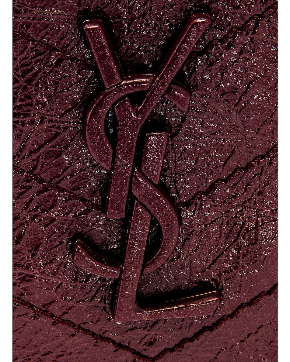 Image 8 of Saint Laurent Niki Chain Wallet Bag in Red Velvet