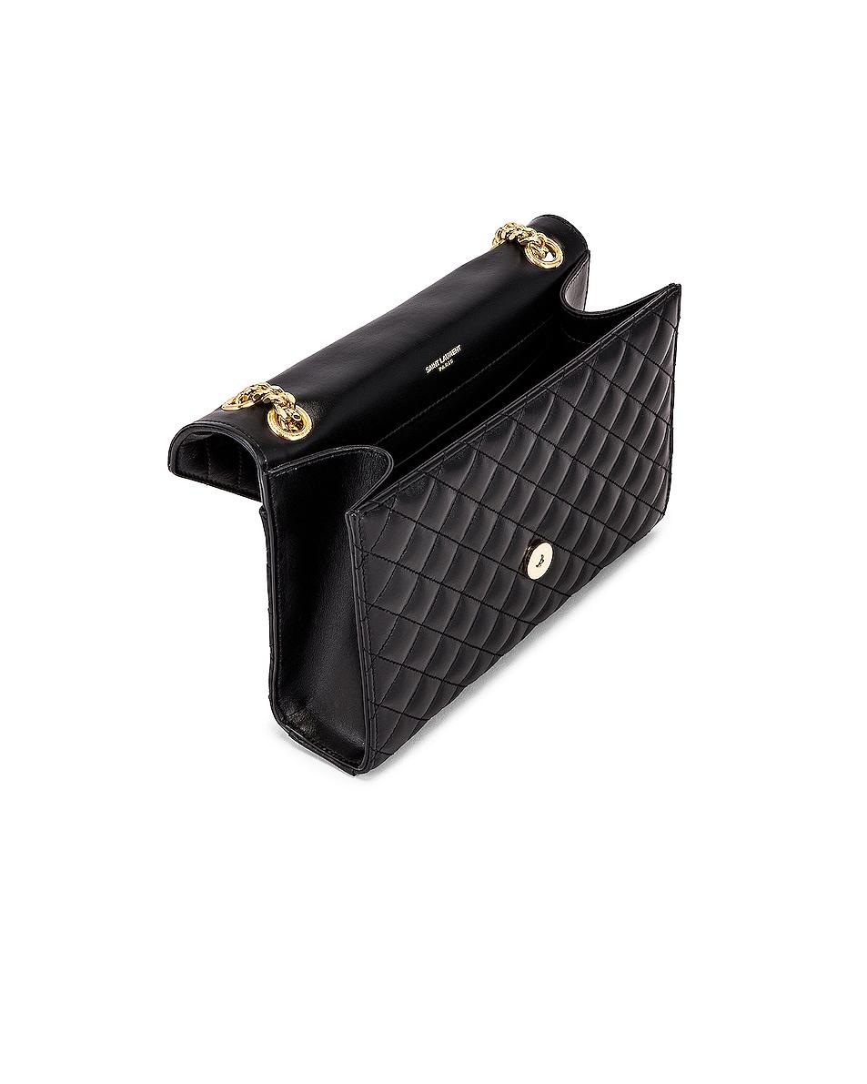 Image 5 of Saint Laurent Medium Envelope Monogramme Satchel Bag in Black