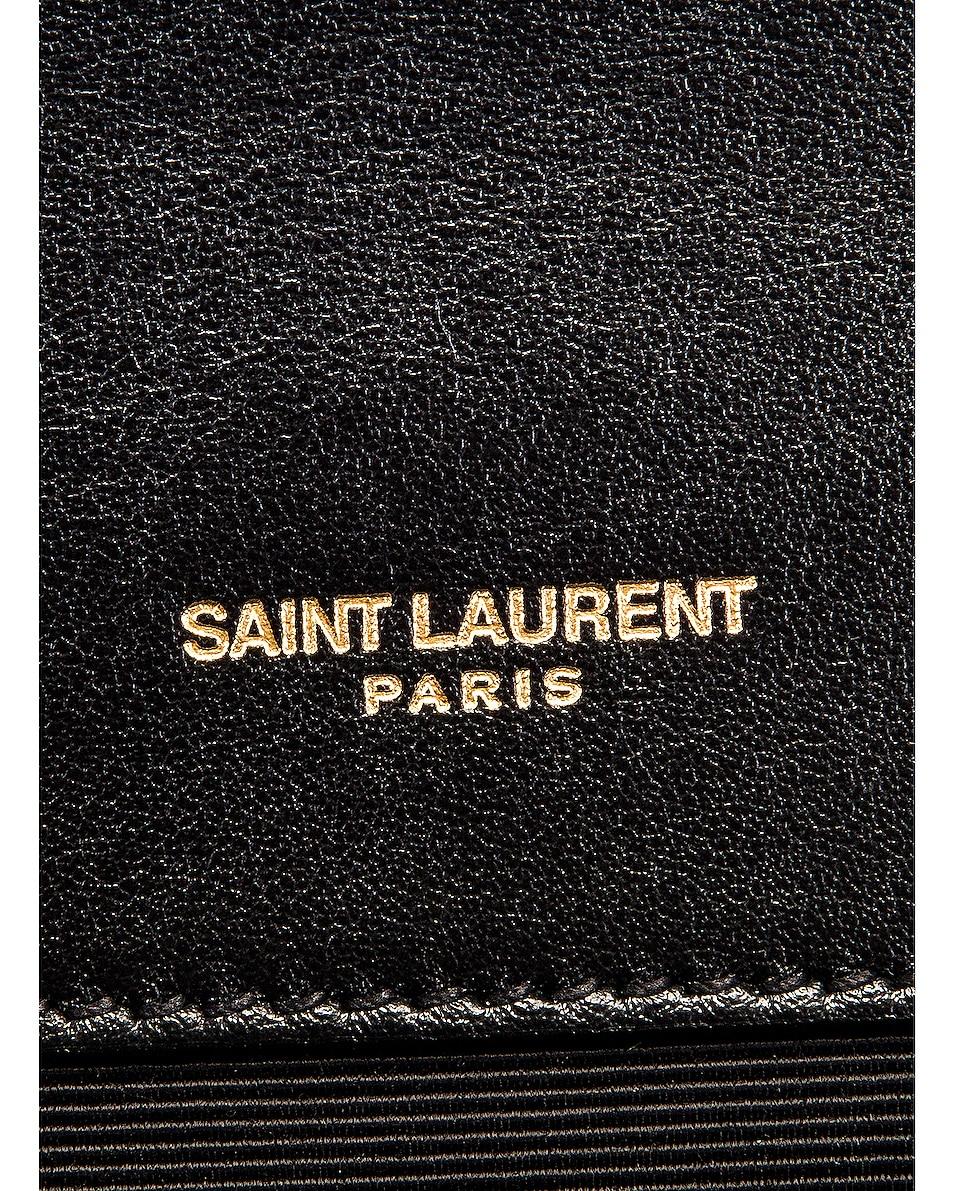 Image 7 of Saint Laurent Medium Envelope Monogramme Satchel Bag in Black