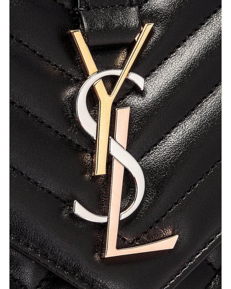Image 8 of Saint Laurent Medium Envelope Monogramme Satchel Bag in Black