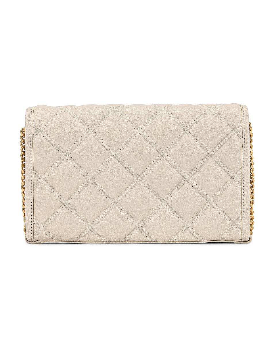 Image 2 of Saint Laurent Chain Wallet Bag in Crema Soft