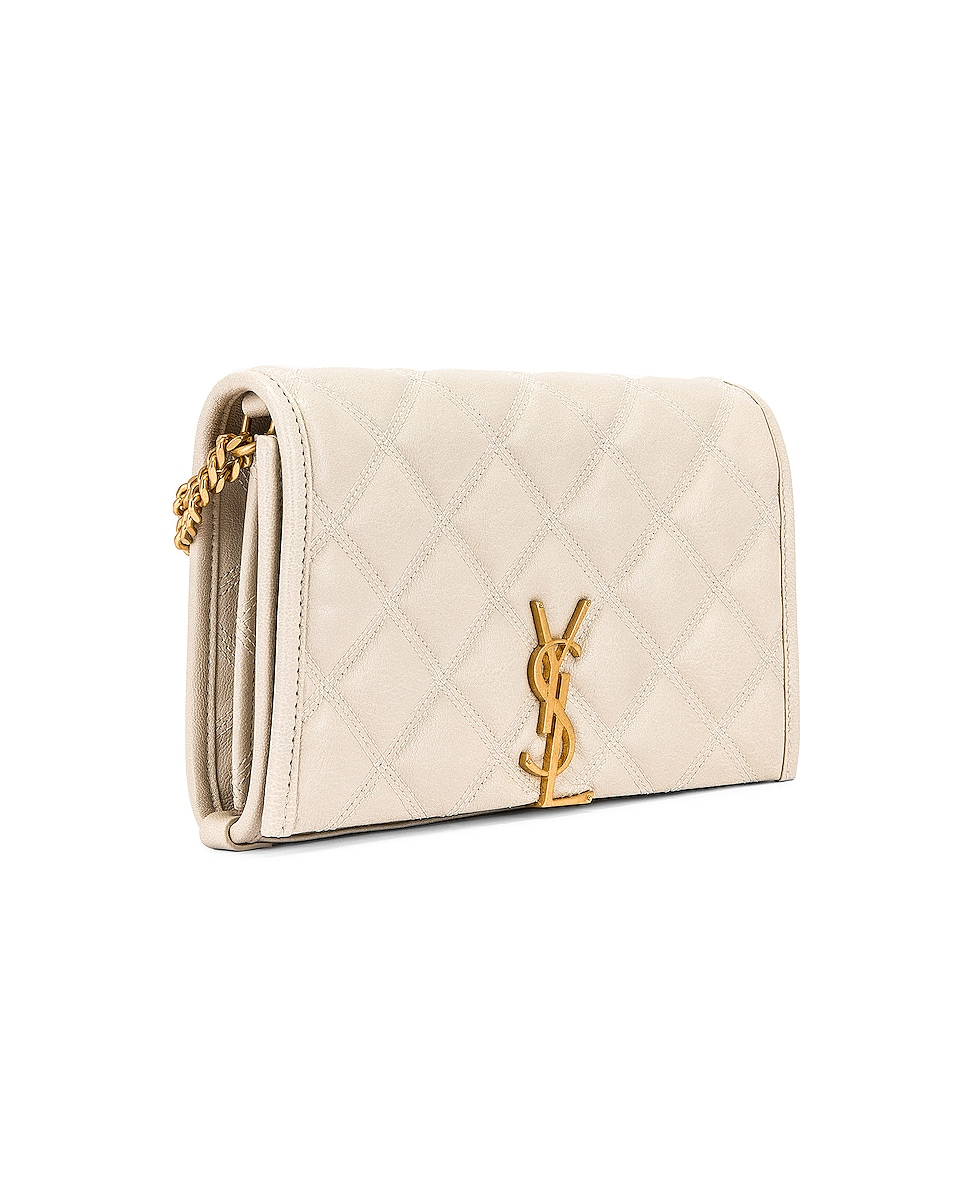 Image 3 of Saint Laurent Chain Wallet Bag in Crema Soft