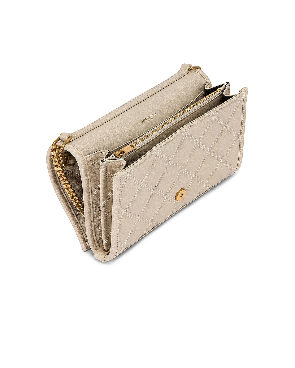 Image 4 of Saint Laurent Chain Wallet Bag in Crema Soft