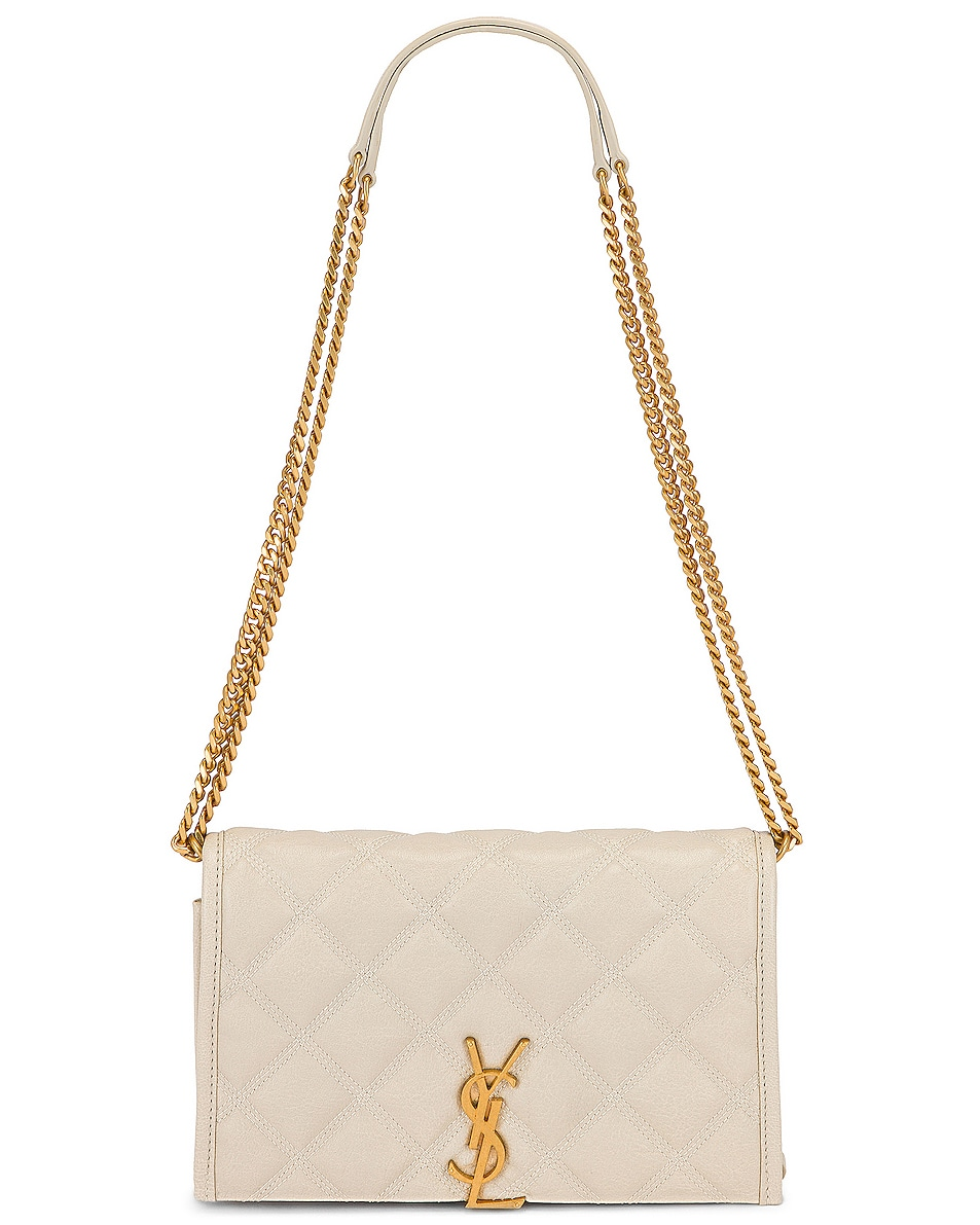 Image 5 of Saint Laurent Chain Wallet Bag in Crema Soft