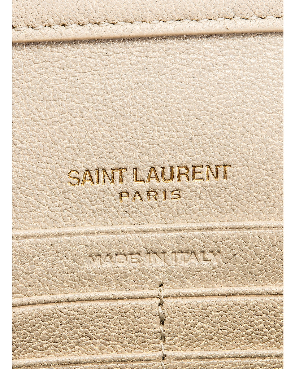 Image 6 of Saint Laurent Chain Wallet Bag in Crema Soft