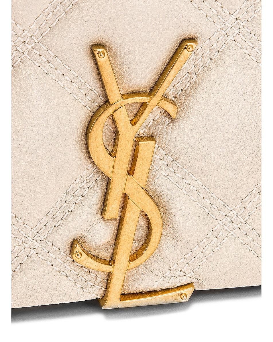 Image 7 of Saint Laurent Chain Wallet Bag in Crema Soft