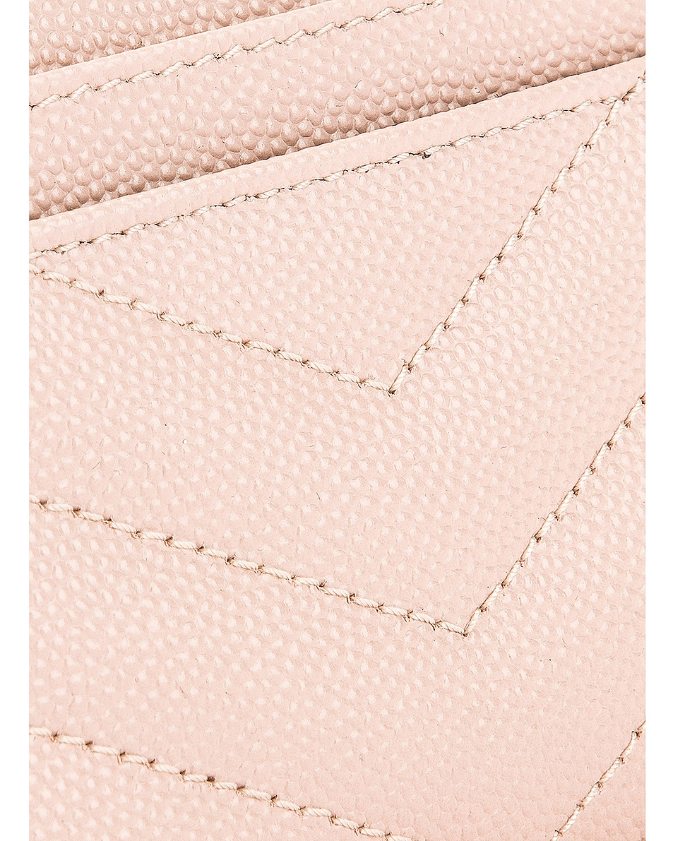 Image 6 of Saint Laurent Monogramme Credit Card Case in Marble Pink